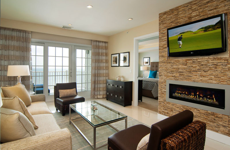 Guest living room at Waters Edge Resort and Spa.
