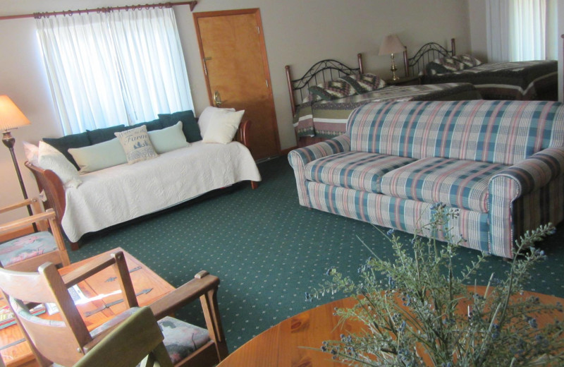 Interior of the deluxe rooms at Rankin Ranch.