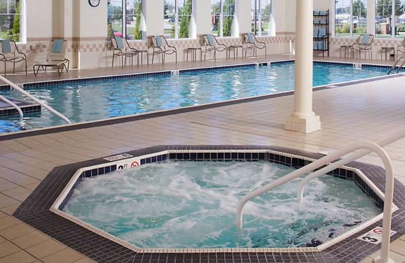 Indoor pool at Residence Inn Saginaw.