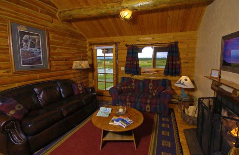 Denny Creek cabin interior at Bar N Ranch.