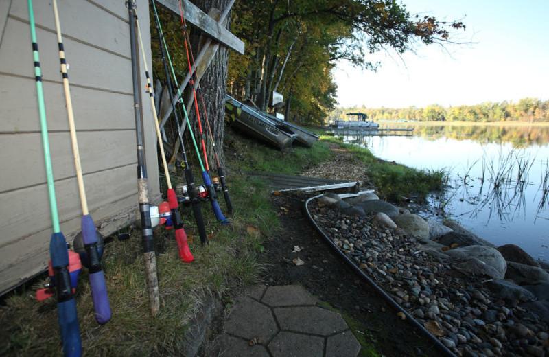 Fishing at Lost Lake Lodge.