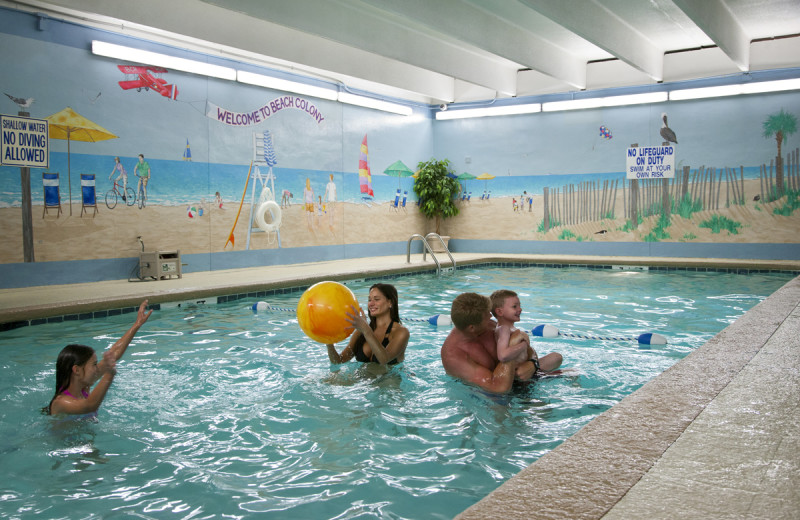 Indoor pool at Beach Colony.
