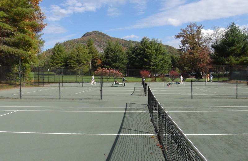 Tennis court at High Hampton Inn.