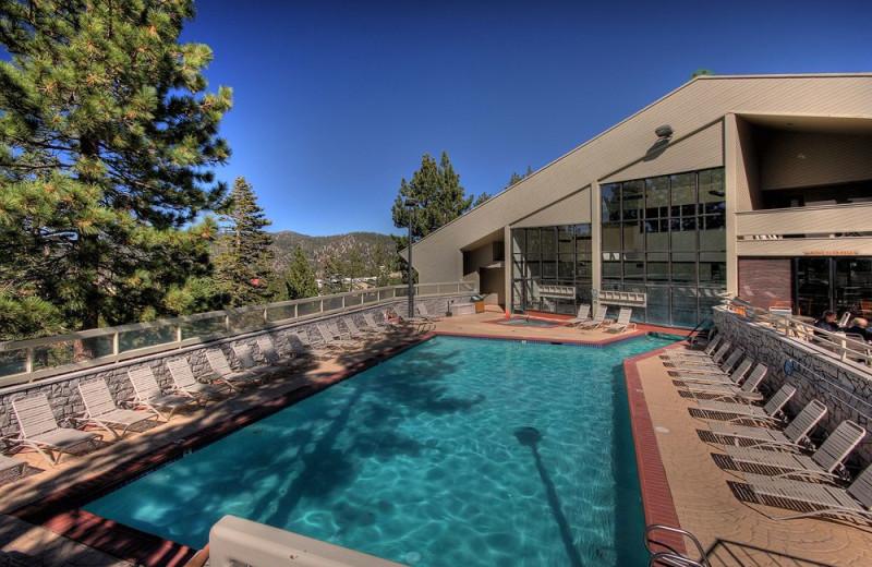 Outdoor pool at The Ridge Resorts.