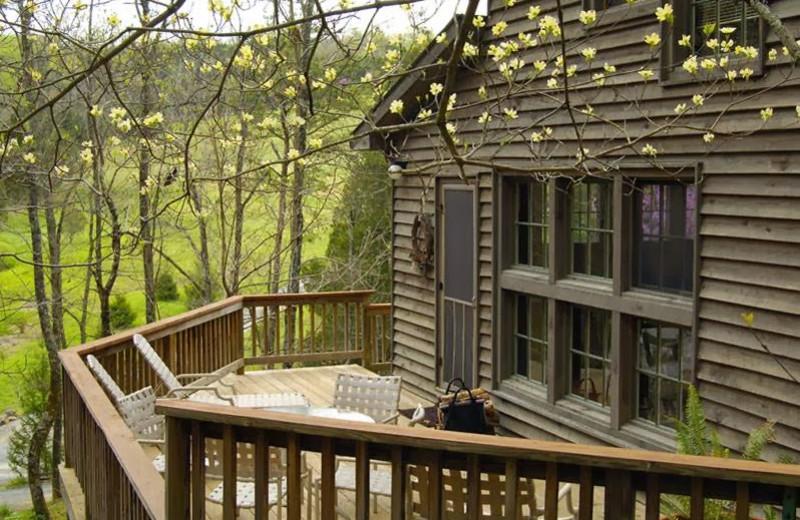 Cottage deck at Creekside Resort.