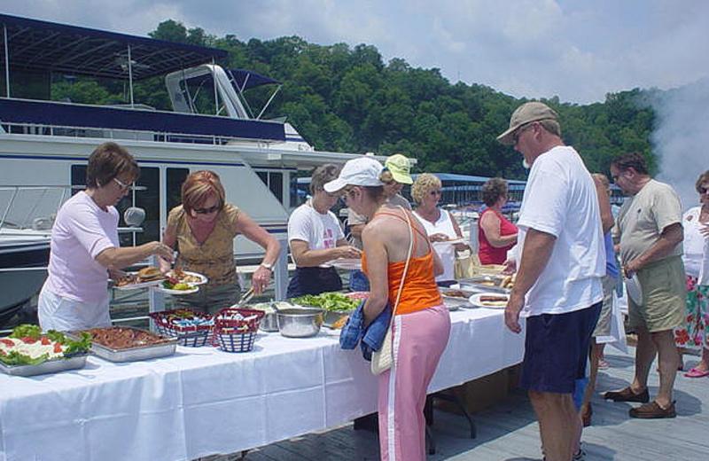 Buffet at Jamestown Resort and Marina.
