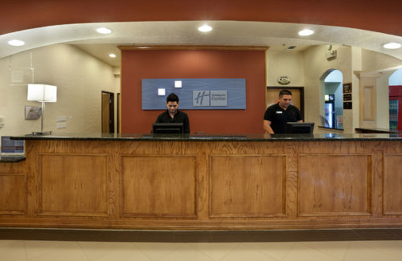 Check-in at the Holiday Inn Express Hotel and Suites