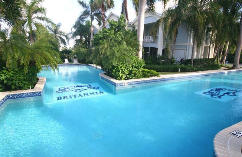 Outdoor pool at Britannia Villas.