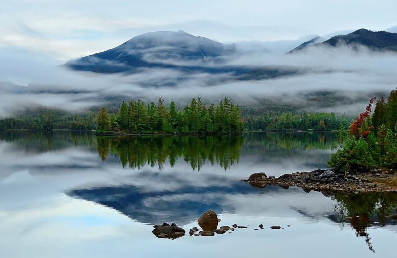 Scenic view at at Elk Lake Lodge.
