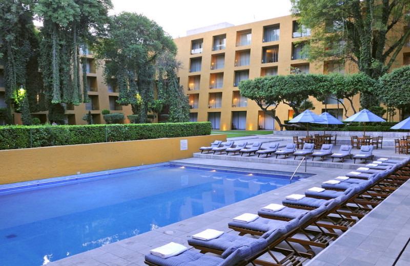 Outdoor pool at Camino Real México City.