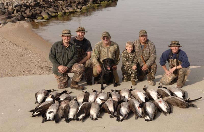 Goose hunting at Arnesen's Rocky Point Resort.