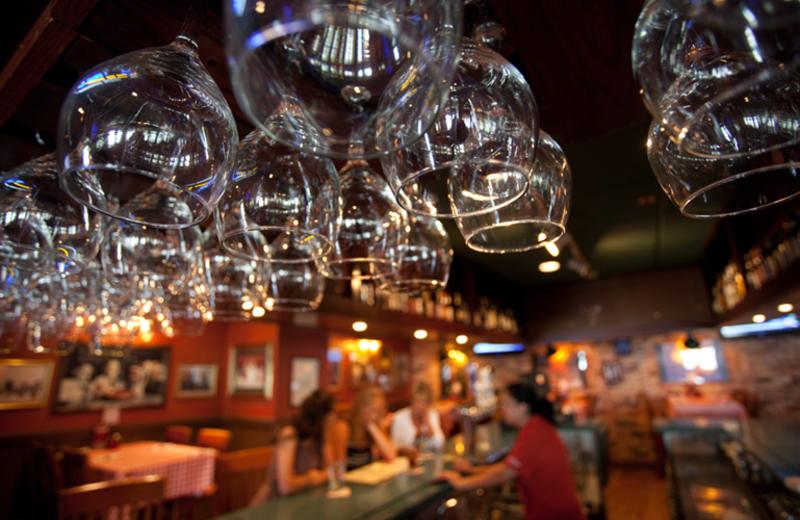 Enjoy a cocktail at the bar at Harbor Shores.