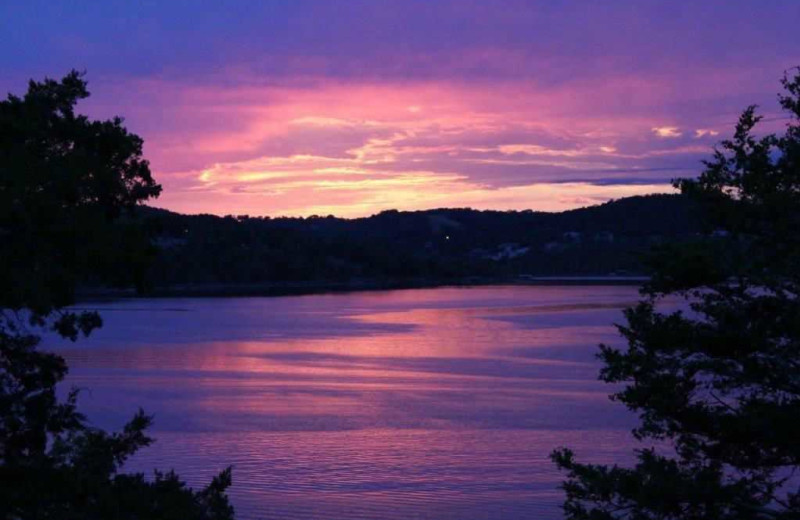Sunset at Branson Vacation Rentals.