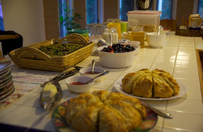 Breakfast at Sarabande Bed & Breakfast.