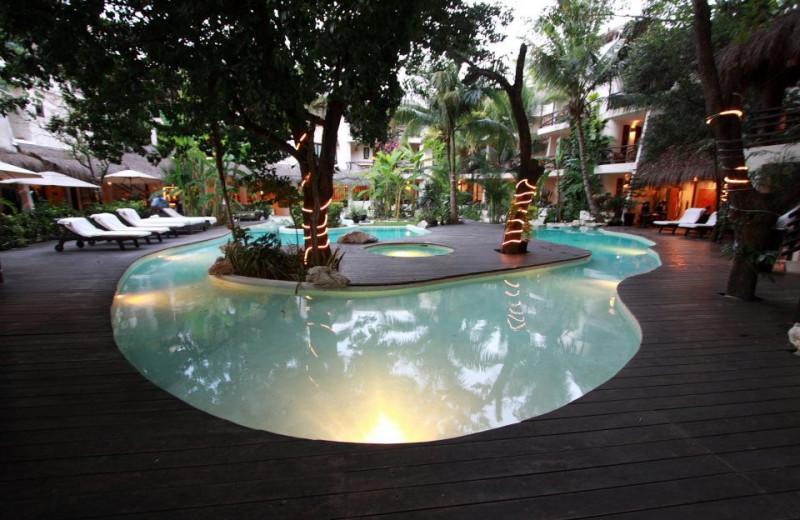 Outdoor pool at La Tortuga Hotel and Spa.