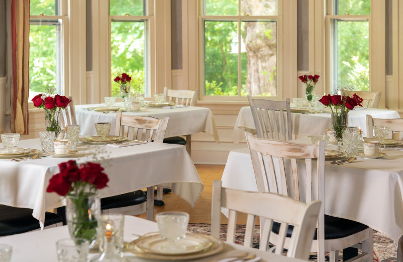 Dining at Orchard House Bed & Breakfast.