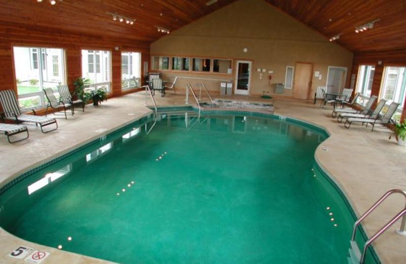 Indoor pool at Birchwood Lodge.