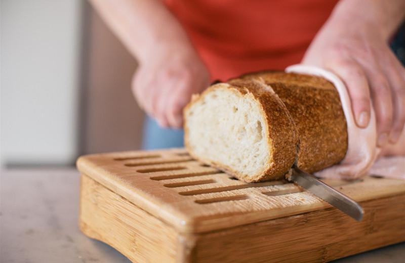 Fresh baked bread at Camellia Inn.