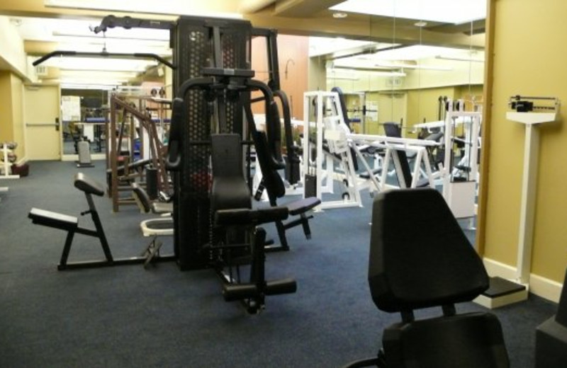 Fitness room at The Woods Resort & Spa.