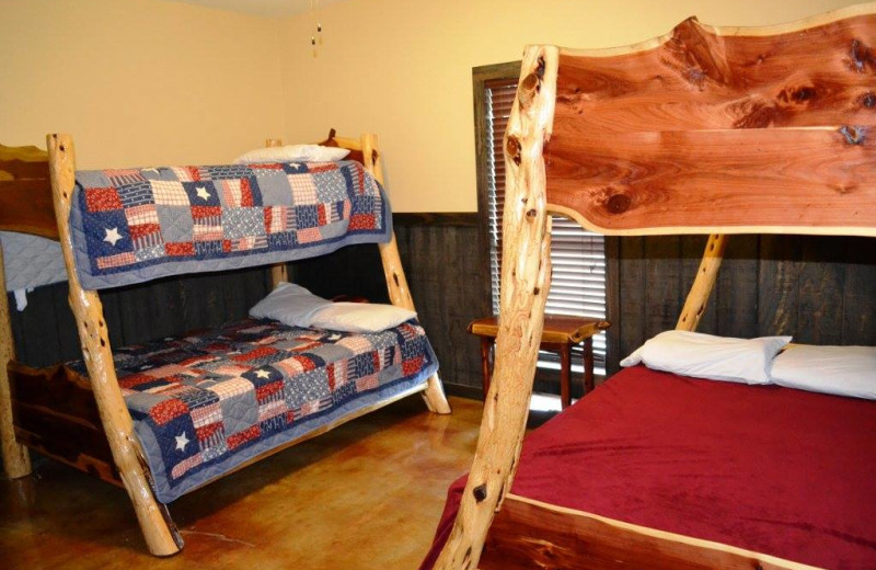 Guest bedroom at Neal's Lodges.