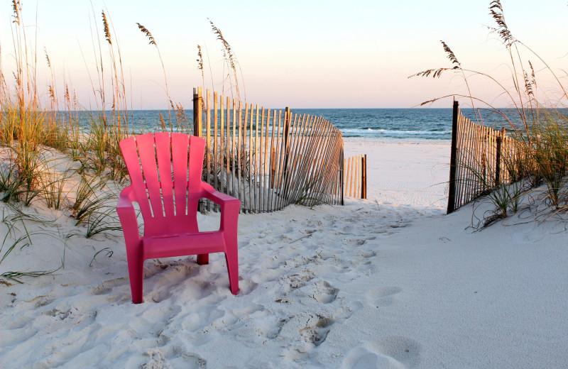 Beach at Bender Realty Vacation Rentals.