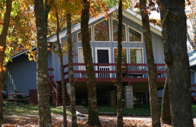 Cabin exterior at Indian Trails Resort.