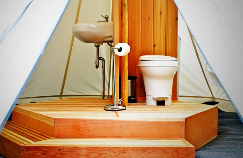 Bathroom Tent at Moab Under Canvas