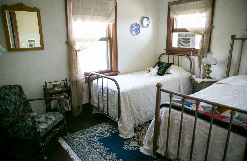 Guest room at Triangle Ranch Bed & Breakfast.