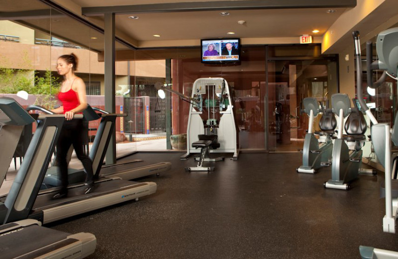 Fitness center at Sedona Rouge Hotel.