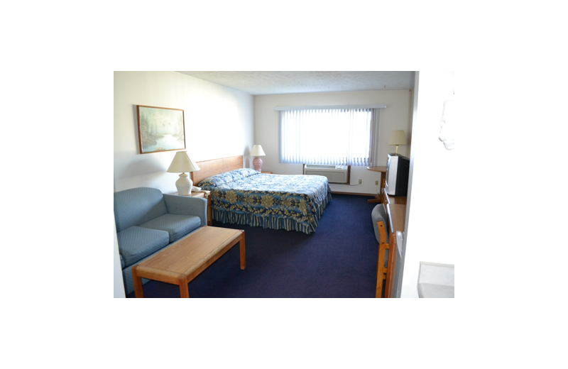 Guest room at Sky Lodge Inn & Suites.