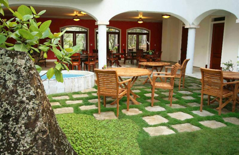 Courtyard at Hawaii Island Retreat.