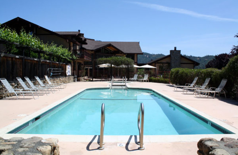 Outdoor pool at Silver Rose Inn.