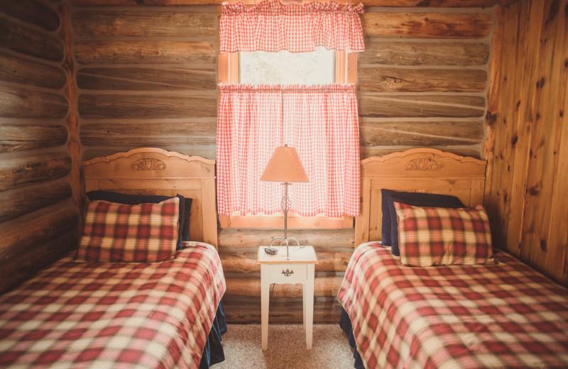 Guest room at Vee Bar Guest Ranch.