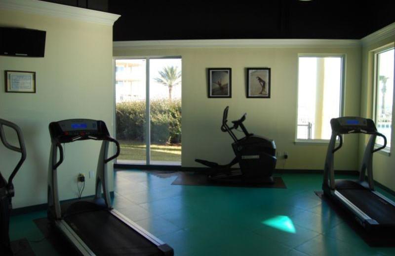 Fitness room at Beach Colony Resort.