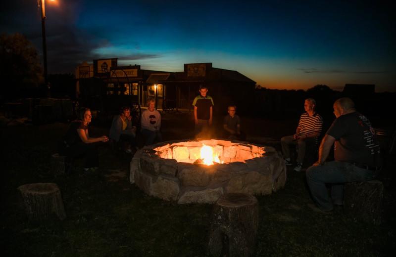 Bonfire at Hideaway Ranch & Retreat.