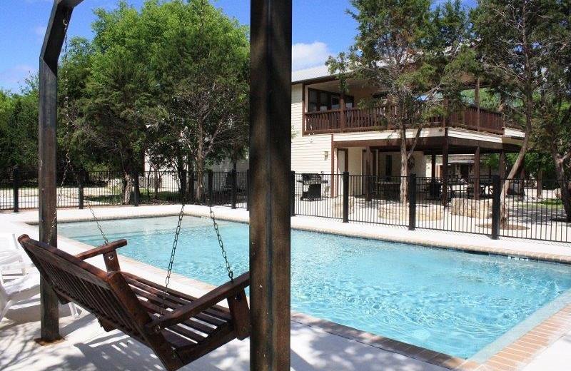 Rental pool at Frio Family Getaway