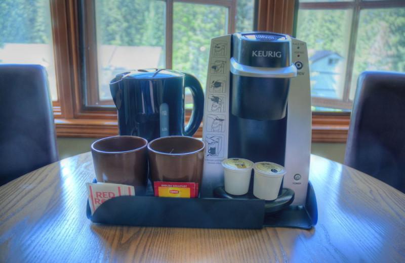Coffee at Banff Caribou Lodge & Spa.