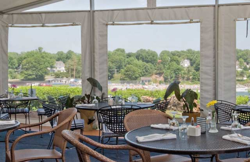 Outdoor terrace at Stage Neck Inn.