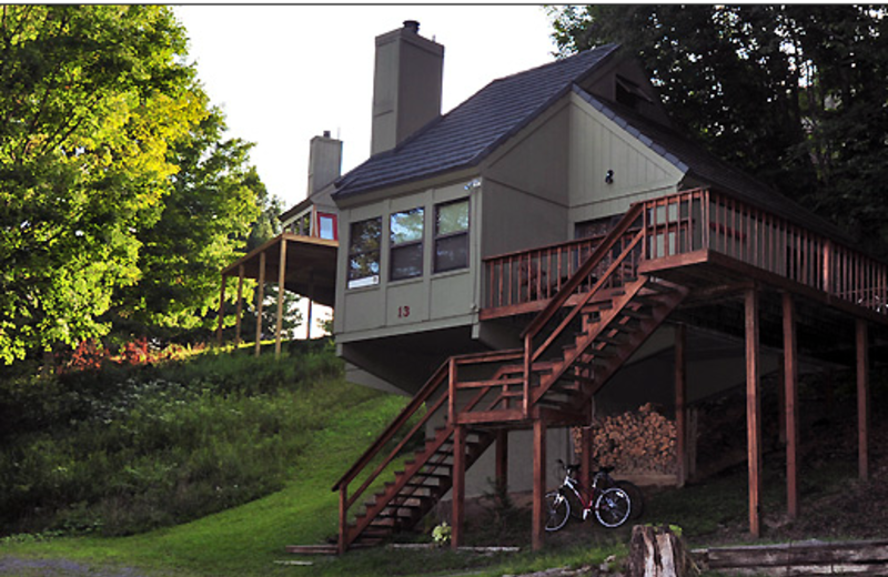 Cabin exterior at Black Bear Resort Rentals.