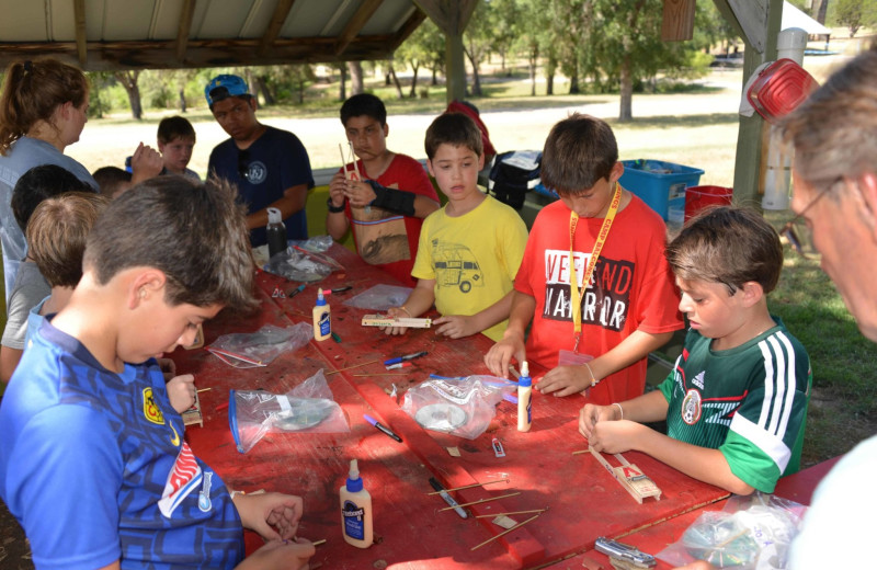 Woodworking at Camp Balcones Spring.