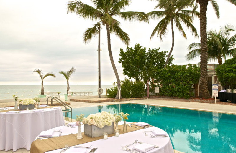 Wedding reception at The Southernmost House.
