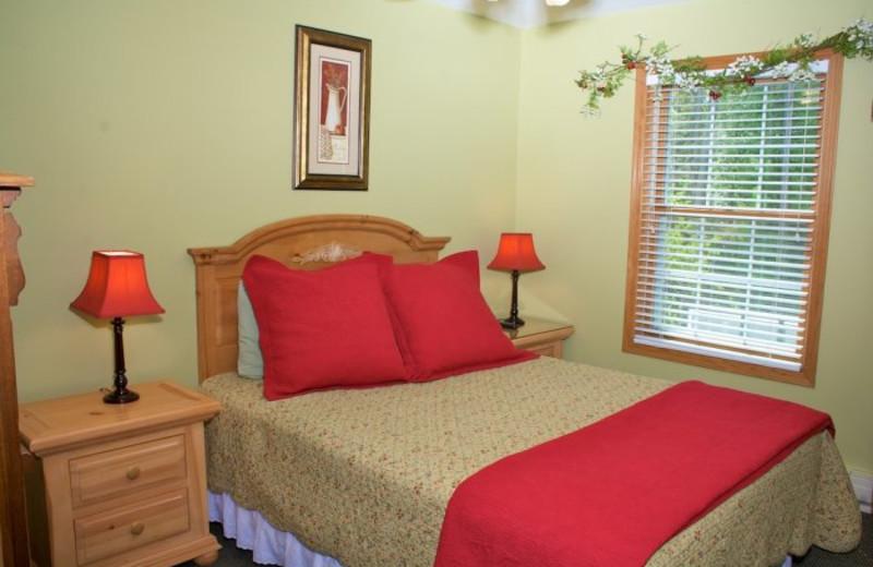 Guest bedroom at Bay Breeze Resort.