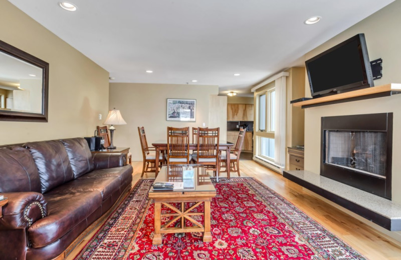 Rental living room at Canyon Services Vacation Rentals.