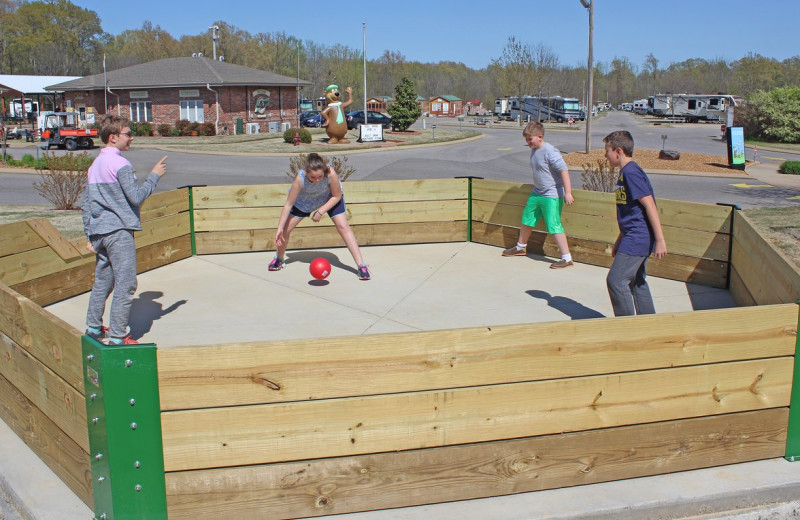 Gaga ball at Yogi Bear's Jellystone Park Memphis.