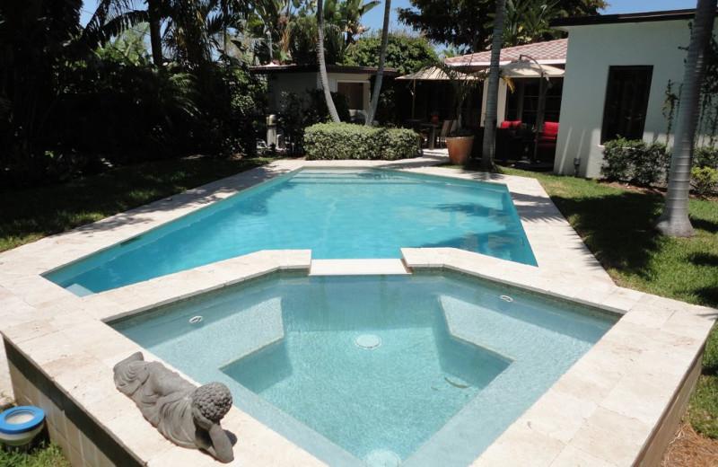 Rental pool at Walker Vacation Rentals.