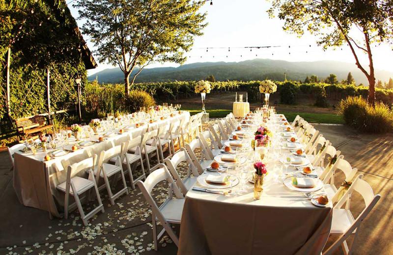 Wedding reception at Harvest Inn by Charlie Palmer.