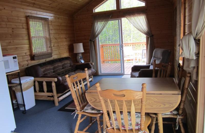 Cabin interior at Kec's Kove Resort.