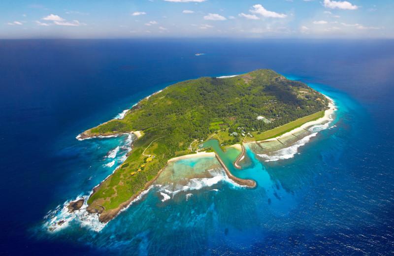 Aerial view of Fregate Island.