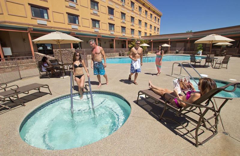 Outdoor pool at Jackson Rancheria Casino & Hotel.