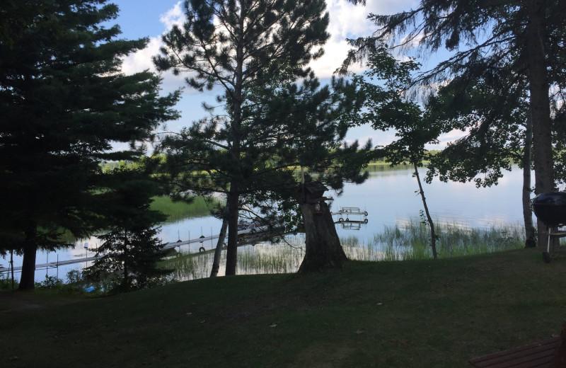Lake view at Driftwood Resort.